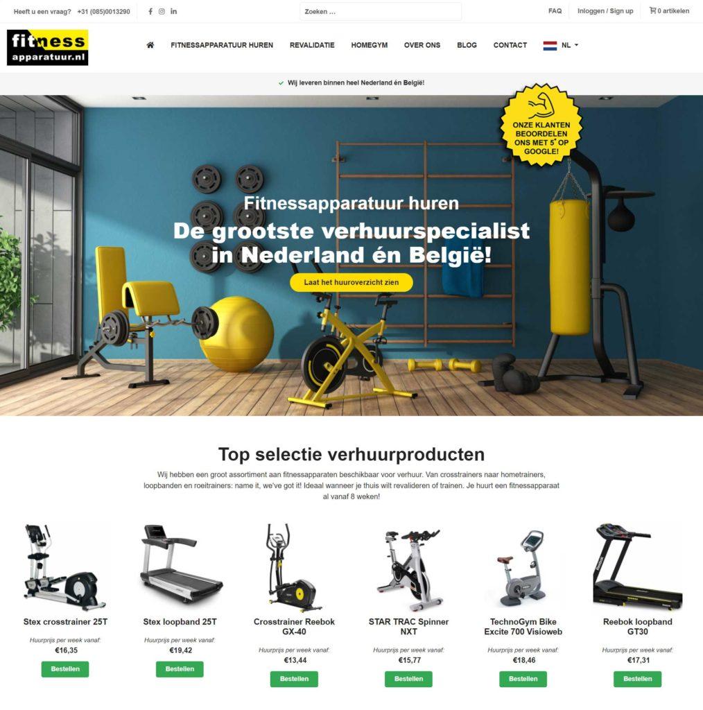 Webdevelopment en online marketing voor Fitnessapparatuur.nl