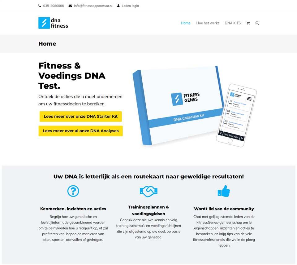Webdevelopment en online marketing voor Dnafitness.nl